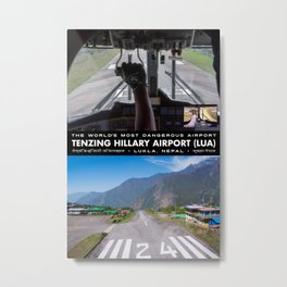 World's Most Dangerous Airport Metal Print