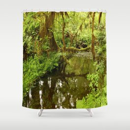 Rainforest Reflection Shower Curtain
