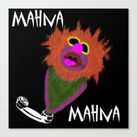 muppet Canvas Prints featuring Mahna Mahna....great Muppet! by Linda V.
