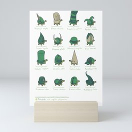 A Study of Turtles Mini Art Print