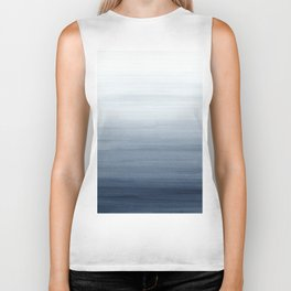 Ocean Watercolor Painting No.2 Biker Tank