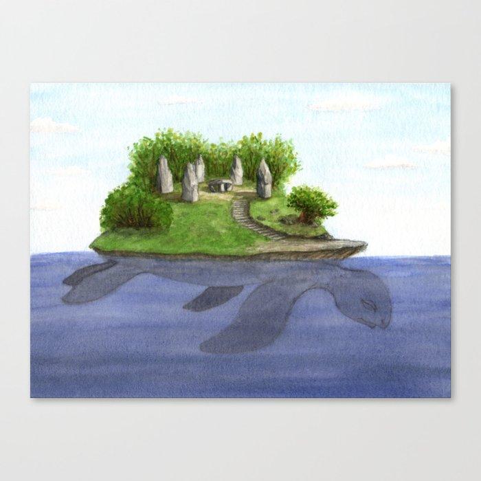 Turtle island Leinwanddruck
