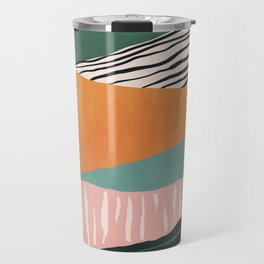 Modern irregular Stripes 02 Travel Mug