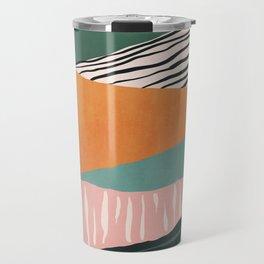 Modern irregular Stripes 02 Travel Mug