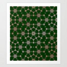 archaic pattern. crop circle. sacred geometry Art Print