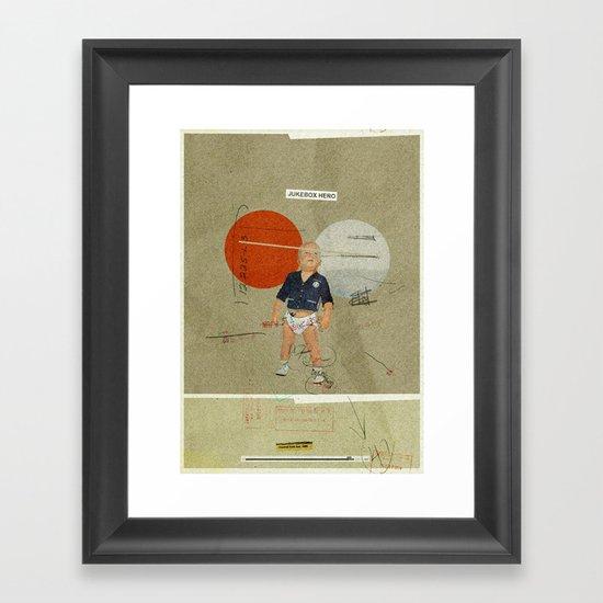 Jukebox Hero   Collage Framed Art Print