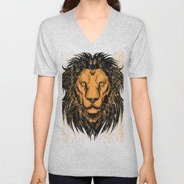 Lion Design Unisex V-Neck