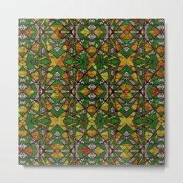 Geometric Glass Mosaic Pattern Metal Print