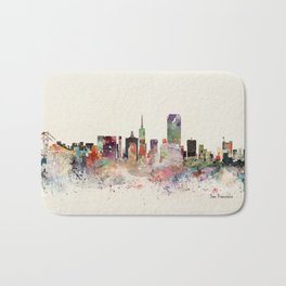 san francisco skyline Bath Mat