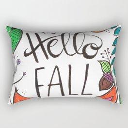 Hello Fall Fox Rectangular Pillow