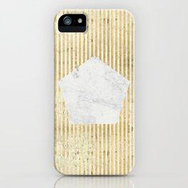 Inverse penta gold iPhone Case