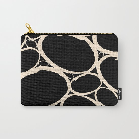 Circles  |  Cream & Black Carry-All Pouch