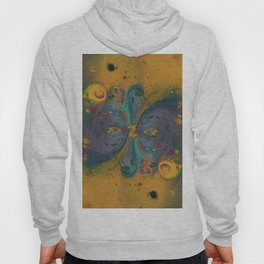 Cosmic Nucleus - Abstract Art by Fluid Nature Hoody