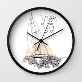 Sea of Flowers Wall Clock