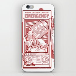 Emergency Hip Hop Red iPhone Skin