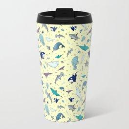 Ocean Life Pattern Travel Mug