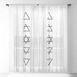 As Above So Below Sheer Curtain