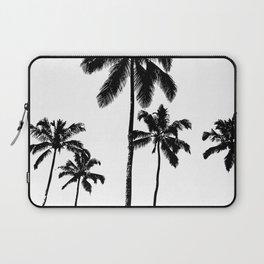 Monochrome tropical palms Laptop Sleeve