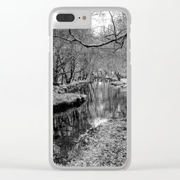 River Pathway - Black & White Clear iPhone Case