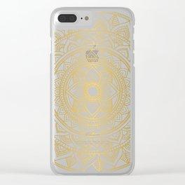 Gold Bali Mandala Clear iPhone Case