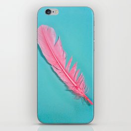 PINK FEATHER iPhone Skin