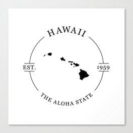 Hawaii - The Aloha State Canvas Print