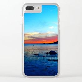 cali sunset Clear iPhone Case