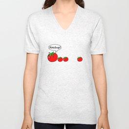 Ketchup Clean Joke Shirt Unisex V-Neck