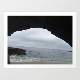 Cave at beach in Aliso Viejo California Art Print