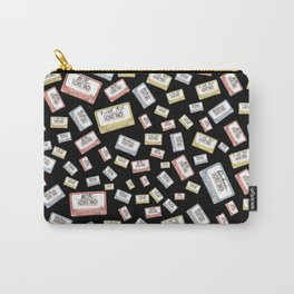 Primary Mixtapes on Black  Carry-All Pouch