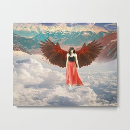 Lady of the Clouds Metal Print