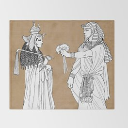 Cleopatra Throw Blanket
