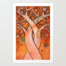 whimsy tree Art Print