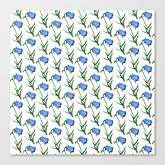 Watercolor hand-drawn flowers pattern  Canvas Print