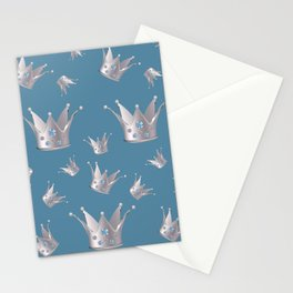 Silver crown Stationery Cards