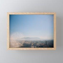 Nostalgic view above Málaga's landscape Framed Mini Art Print