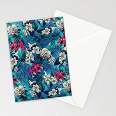 Botanical Garden on Blue Stationery Cards