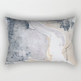 As Restless as the Sea: a minimal abstract painting by Alyssa Hamilton Art Rectangular Pillow