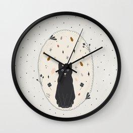 Lucky Black Cat Wall Clock