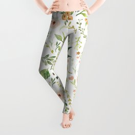 Botanical Spring Flowers Leggings