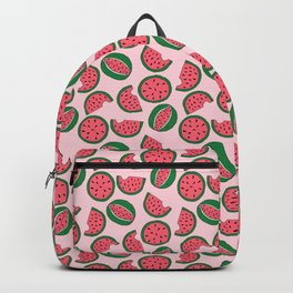 Watermelon - Summer Doodle Pattern in Pink and Green Backpack