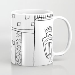 The Terrace And Place Of Olé - Drawing Coffee Mug