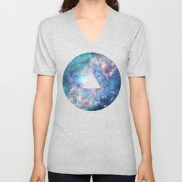 Abstract Galaxies 2 Unisex V-Neck
