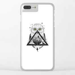 Owls and Wizardry Clear iPhone Case
