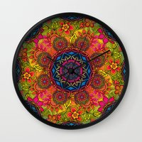 baroque Wall Clocks featuring baroque mandalas by Norma Lindsay