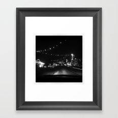 Candy Cane Lane Framed Art Print