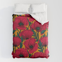 Red poppy garden    Bettbezug