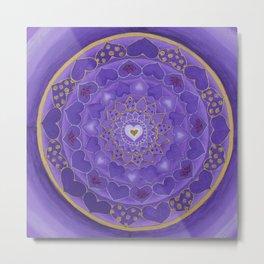 Divine Love Mandala Metal Print
