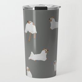 Ghost Dog Print - Gray Travel Mug
