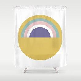 Rainbow and sun Shower Curtain
